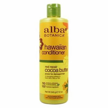 Alba Hawaiian Hair Conditioner Dry-Repair Cocoa Butter - 12 fl. oz. by Alba Botanica (pack of 6)