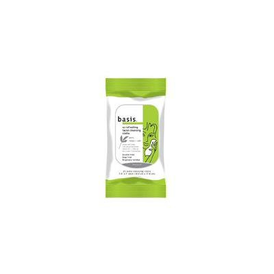 Basis So Refreshing Facial Cleansing Cloths, Alcohol Free 25 ea (Pack of 4)