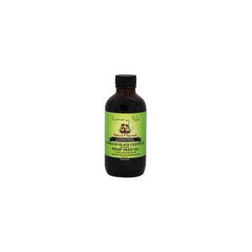 Jamaican Black Castor Oil Hemp Seed Oil - 4 fl. oz. by Sunny Isle (pack of 6)