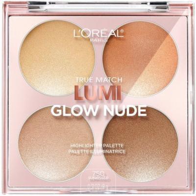 6 Pack - L'Oreal Paris True Match Lumi Glow Nude Highlighter Palette, Sun-Kissed 0.26 oz