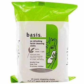 Basis, So Refreshing Facial Cleansing Cloths