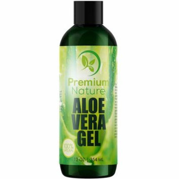 Aloe Vera Gel. Pure Juice - 12 oz Limited Edition 2.0 - For Face & Dry Skin Psoriasis Eczema Treatment. Cold Sore Scar After Bug Bite Redness Relief Rash Razor Bump Sunburn Moisturizer. 100% Pure