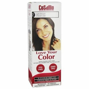 Love Your Color Non-Permanent Hair Color 755 Light Brown - 3 fl. oz. by CoSaMo (pack of 6)