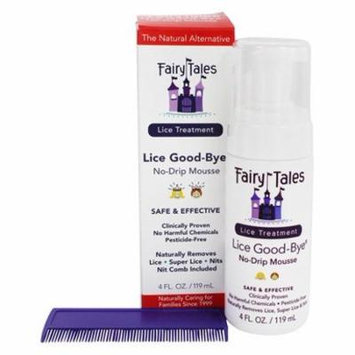 Lice Good-Bye Natural Alternative Treatment No Drip Mousse - 4 fl. oz. by Fairy Tales (pack of 2)