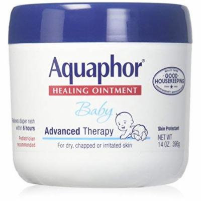 Aquaphor Baby Healing Ointment Advanced Therapy Skin Protectant, 14 Ounce, Pack of 3