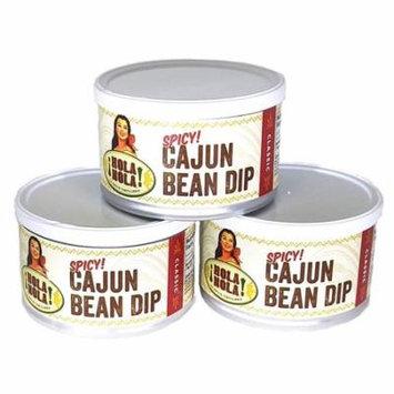Hola Nola Spicy Cajun Bean Dip - 3 Pack of 9 oz Cans - Cajun Bean Dip - All Natural - No Sugars Added - No Preservatives - Made in Louisiana