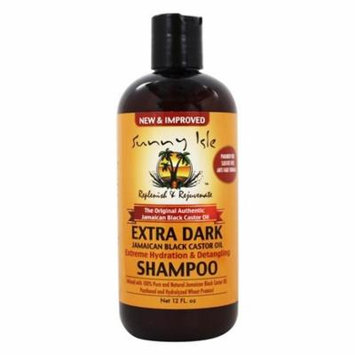 The Original Authentic Jamaican Black Castor Oil Hydration & Detangling Shampoo Extra Dark - 12 fl. oz. by Sunny Isle (pack of 2)