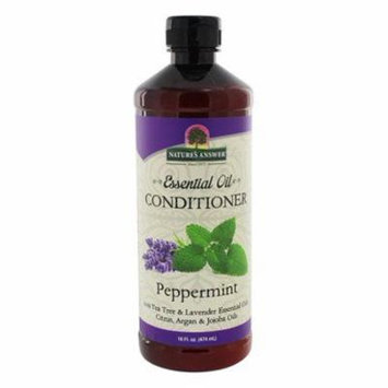 Essential Oil Conditioner Peppermint - 16 fl. oz. by Nature's Answer (pack of 12)