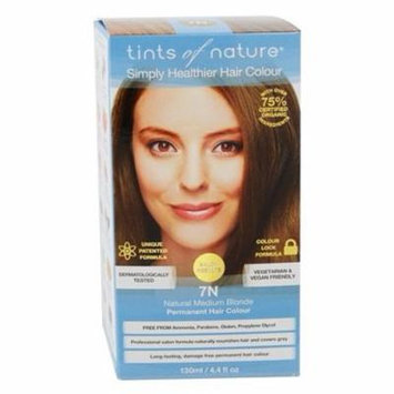Conditioning Permanent Hair Color 7N Natural Medium Blonde - 4.4 fl. oz. by Tints Of Nature (pack of 2)