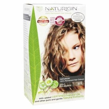 100% Permanent Hair Colour Light Ash Blonde 8.1 - 3.9 fl. oz. by Naturigin (pack of 2)