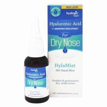 Hylamist HA Nasal Mist with Hyaluronic Acid & Grapefruit Seed Extract - 2 fl. oz. by Hyalogic (pack of 6)