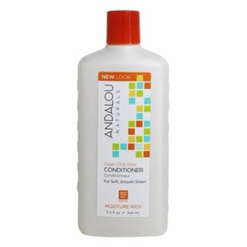 Argan Oil & Shea Moisture Rich Conditioner - 11.5 fl. oz. by Andalou Naturals (pack of 2)