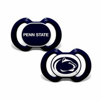Mozlly Baby Fanatic Penn State University Pacifiers (2pc Set) (Multipack of 6) Toddler Sports Accessories