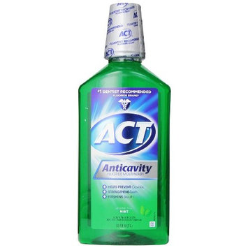ACT Anticavity Fluoride Rinse, Mint, 33.8 oz Each