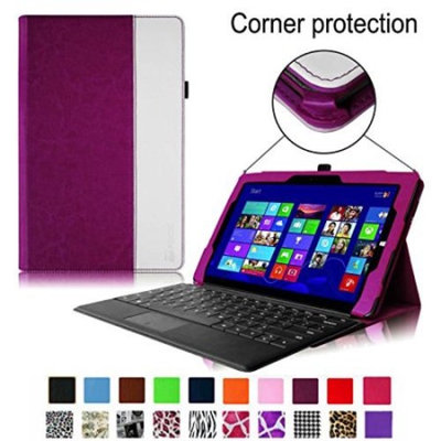 Fintie Microsoft Surface Pro 3 Case - [Corner Protection] Folio Slim Fit PU Leather Stand Cover with Stylus Holder for Microsoft Surface Pro 3 12.3-inch Tablet, Green/White