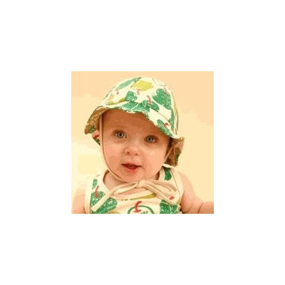Sckoon Organic Cotton Summer Flap Hat Green Pear 1- 3 years