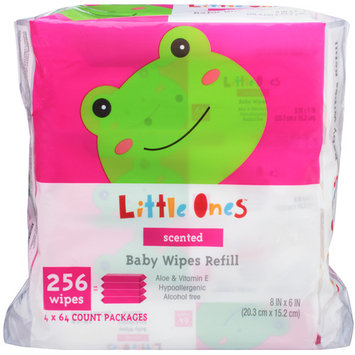 Little Ones L1 BABY WIPES SCENTE2.56C 256CT 4X REFIL