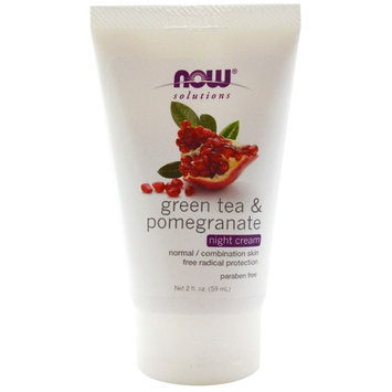 Now Foods, Solutions, Night Cream, Green Tea & Pomegranate, 2 fl oz(pack of 3)