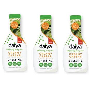 DAIYA   Dairy Free Salad Dressings Creamy Ceasar [ Gluten Free, Vegan and Dairy Free ] 8.36 OZ