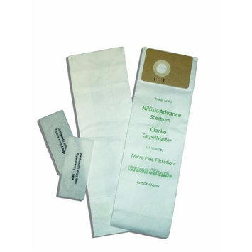 Green Klean Replacement Vacuum Cleaner Bags for Advance Spectrum and Clarke Carpetmaster