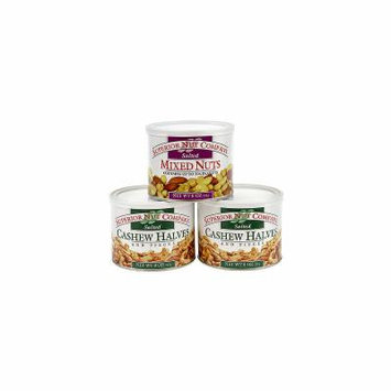 Superior Nut Salted Mixed Nuts and Salted Cashew Halves 8oz 3 Pack