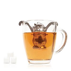 Kikkerland Monkey Tea Infuser & Drip Tray