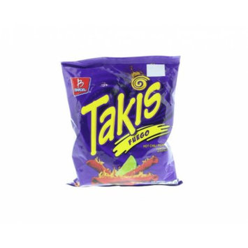 Takis Tortilla Chips Hot Chili Pepper and Lime - Chile y Limon 4 Oz (Pack of 6)