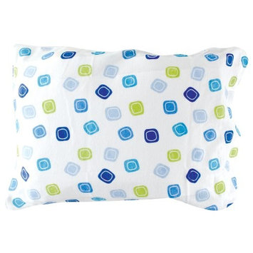 Luvable Friends Infant Pillow Case, Traditional Blue Print