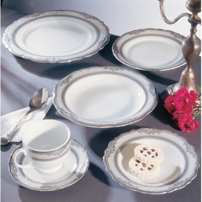 Ten Strawberry Street Vanessa Platinum Bread and Butter Plate Set of 6