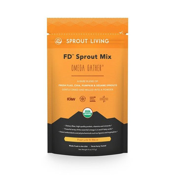 Sprout Living Omega Gather Organic Sprout Mix, Freeze Dried Superfood Greens Powder, 100% Pure, Vegan, Non-GMO, Gluten Free (4 ounces, 32 servings)