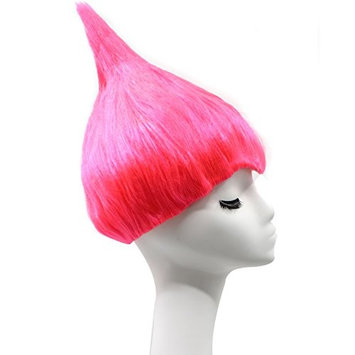 Anogol Hair Cap+Rose Princess Troll Wig Poppy Wacky Trolls Cosplay Wigs for Adults Kids