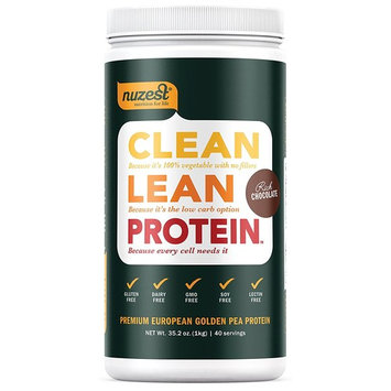 Nuzest Clean Lean Protein - Premium Pea Protein Powder, Plant-Based, Vegan, Dairy Free, Gluten Free, GMO Free, Naturally Sweetened, Rich Chocolate, 9 Servings, 7.9 oz [Rich Chocolate]