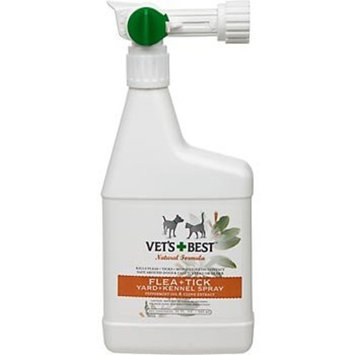 Vet's Best Natural Flea + Tick Yard and Kennel Spray, New Mega Size Package 96 Ounce
