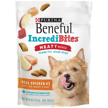 Purina Beneful IncrediBites Meaty Minis Real Chicken With Real Apples & Beef Dog Treats - (6) 6 oz. Pouches