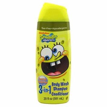 Nickelodeon SpongeBob 3 In 1 Body Wash (Pack of 3)