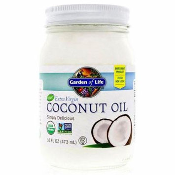 Garden of Life, Raw Extra Virgin Coconut Oil, 16 fl oz(Pack of 6)
