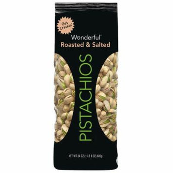 Wonderful Pistachios Pouch Roasted & Salted24.(pack of 12)