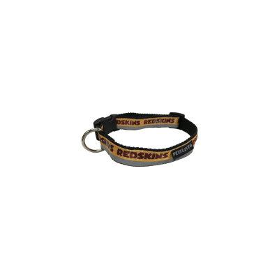 Petflect Washington Redskins Dog Collar - Reflective - Nylon - Super Strength - NFL Team Logos - Large, Neck 20