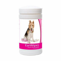 Healthy Breeds 840235180043 Wire Fox Terrier Ear Wipes - 70 Count