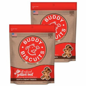 Cloud Star Buddy Biscuits 6 oz Soft & Chewy Dog Treats - Grilled Beef 2 Pack