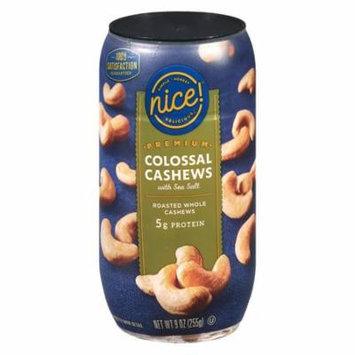Nice! Premium Colossal Cashews With Sea Salt9.0 oz.(pack of 1)