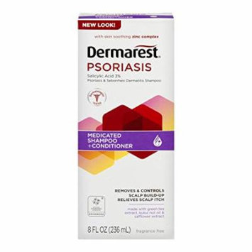 Dermarest Psoriasis Medicated Shampoo plus Conditioner | 8-Ounces | 1-Unit
