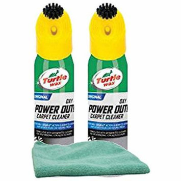 Turtle Wax Oxy Power Out Carpet Cleaner (18 oz.) Bundle with Microfiber Cloth (3 Items)