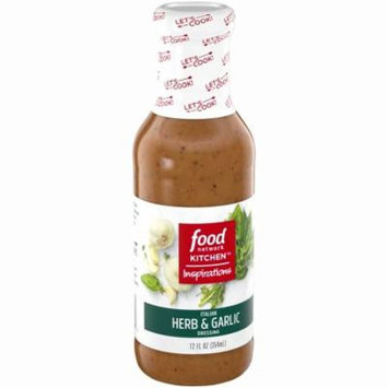 Food Network Kitchen™ Inspirations Italian Herb & Garlic Dressing 12 fl. oz. Glass Bottle