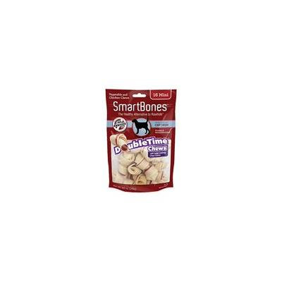 SmartBones DoubleTime Bone Chews for Dogs - Chicken Mini - 16 Pack - (2.5 Long - For Dogs 5-10 lbs) - Pack of 3