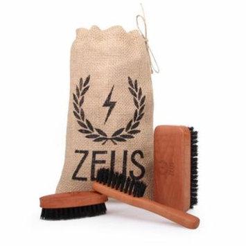 Zeus Beard Brush Kit for Men - 100% Natural Boar Bristle Brush Set for Softer and Fuller Beards and Mustaches