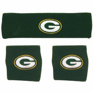 Green Bay Packers NFL Wristband and Headband Set