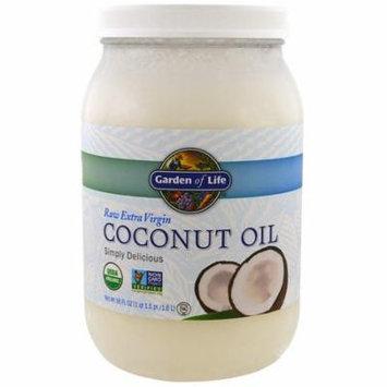 Garden of Life, Raw Extra Virgin Coconut Oil, 56 fl oz (1.6 l)(Pack of 1)