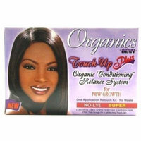 2 Pack - Africa's Best Organics Touch-Up Plus Moisturizing No-Lye Relaxer Kit Super 1 ea