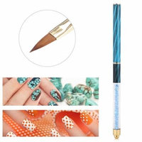 Estink Colorful Nail Art Brush Detailing Drawing Paint Painting Brushes Dotting Pen Drawing Flower Pen UV Gel Polish Extension Carving Manicure Nail Art Brush